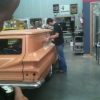 A classic Body Shop Paint Supplies vehicle in process of car restoration. Rust prevention products are being applied.